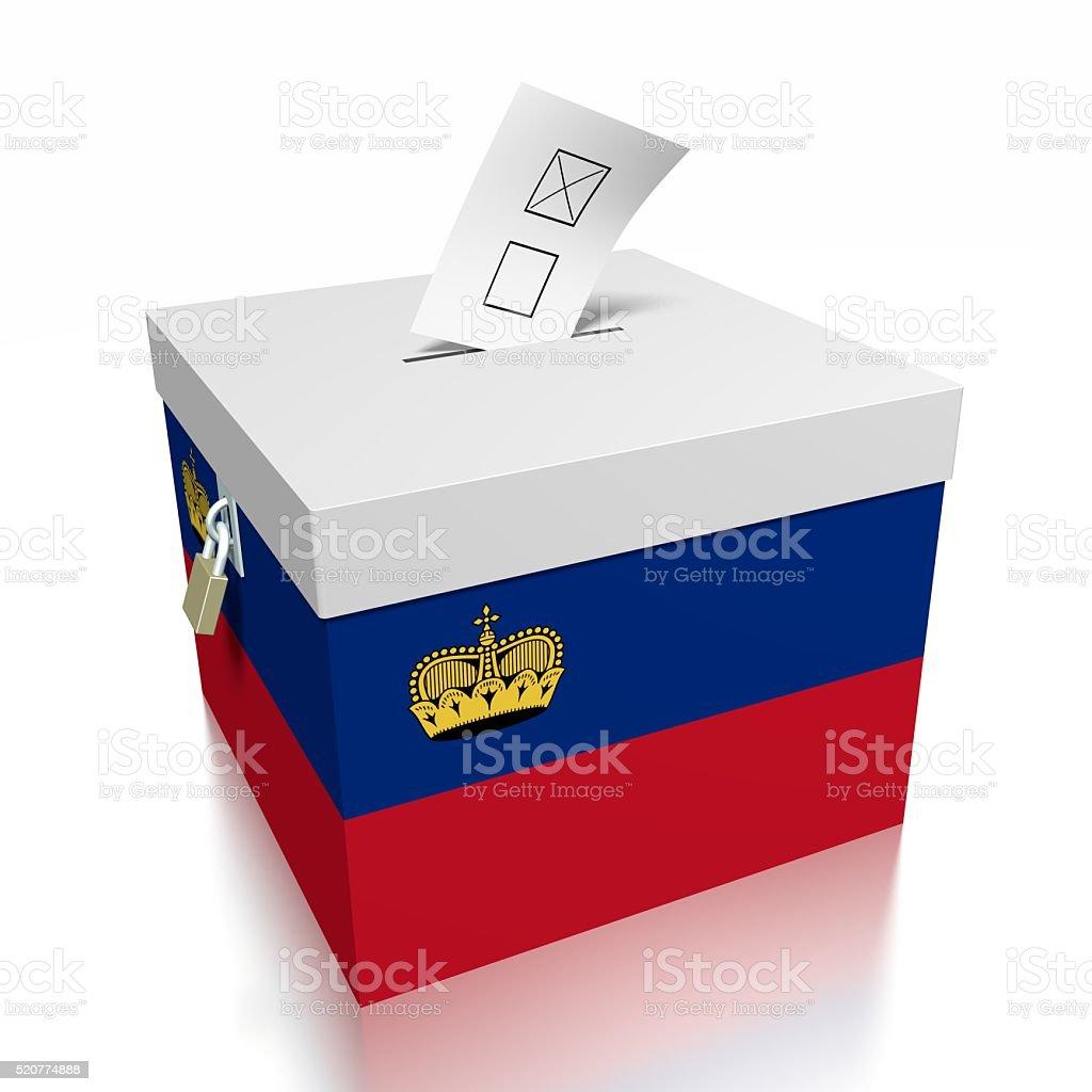 Election/ voting in Lichtenstein stock photo