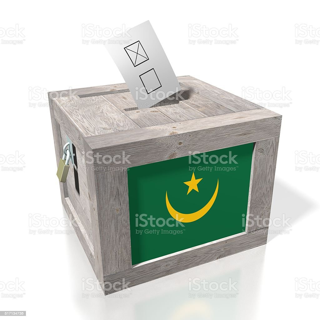 Election/ voting in Mauritania stock photo