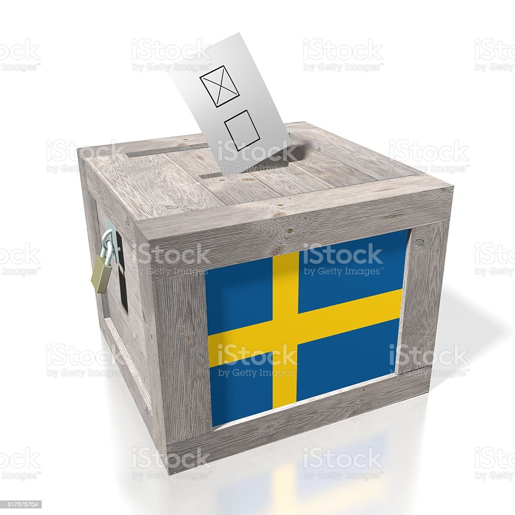 Election/ voting in Sweden stock photo