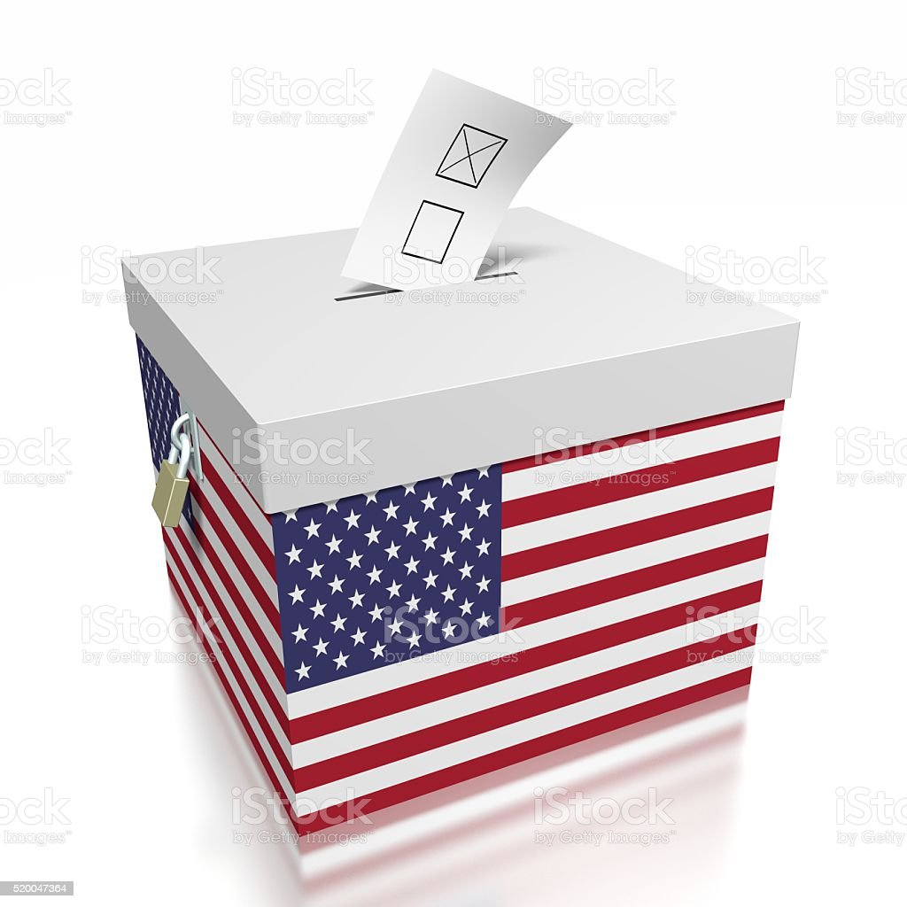 Election/ voting in USA stock photo