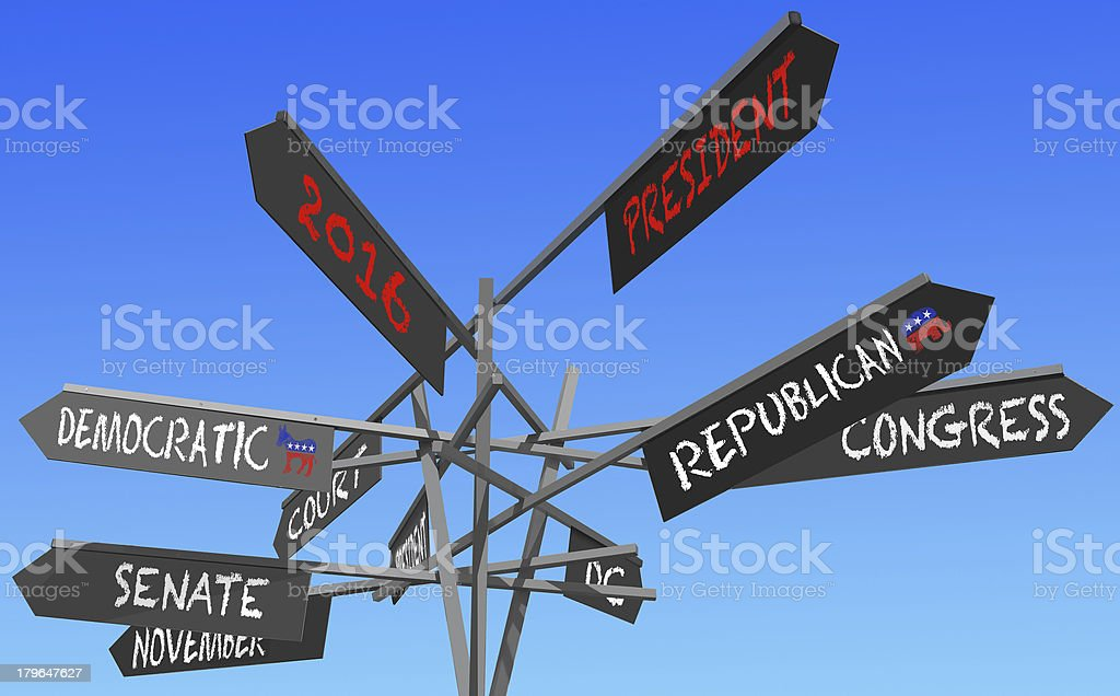 elections 2016 conceptual post stock photo