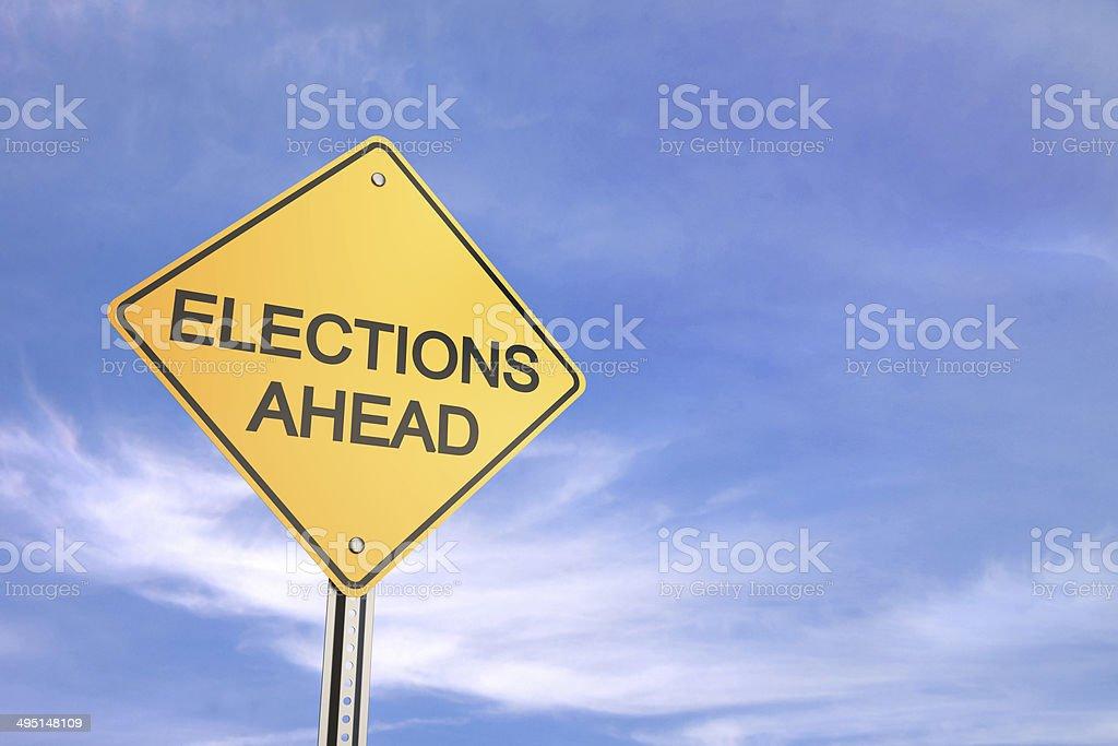 Elections Ahead stock photo
