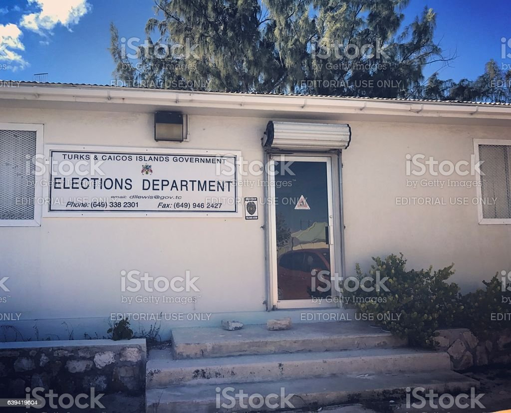 Elections Department Building. Turks and Caicos Islands stock photo