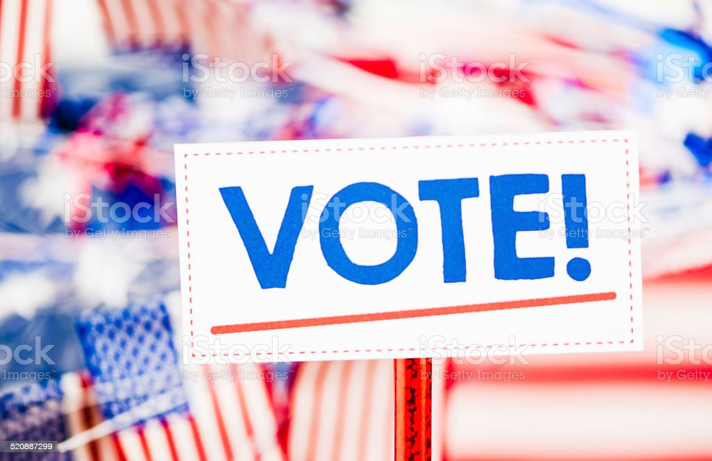 Elections. Don't forget to vote! stock photo