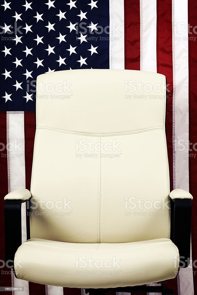 U.S. Elections. Empty Presidential Seat stock photo