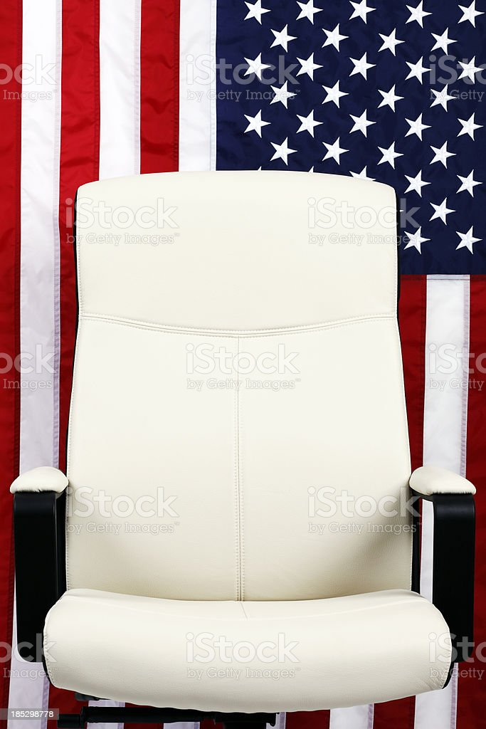 U.S. Elections. Empty Seat stock photo