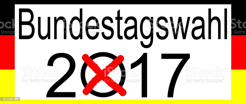 Elections in Germany 2017 – Bundestagswahl stock photo