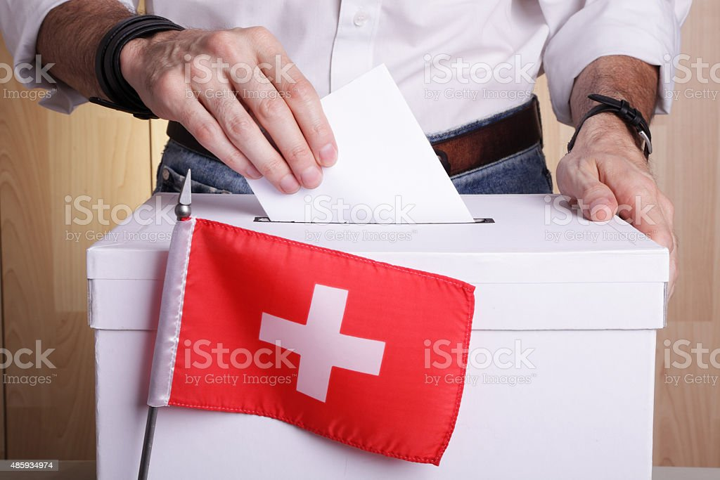 Elections in Switzerland stock photo