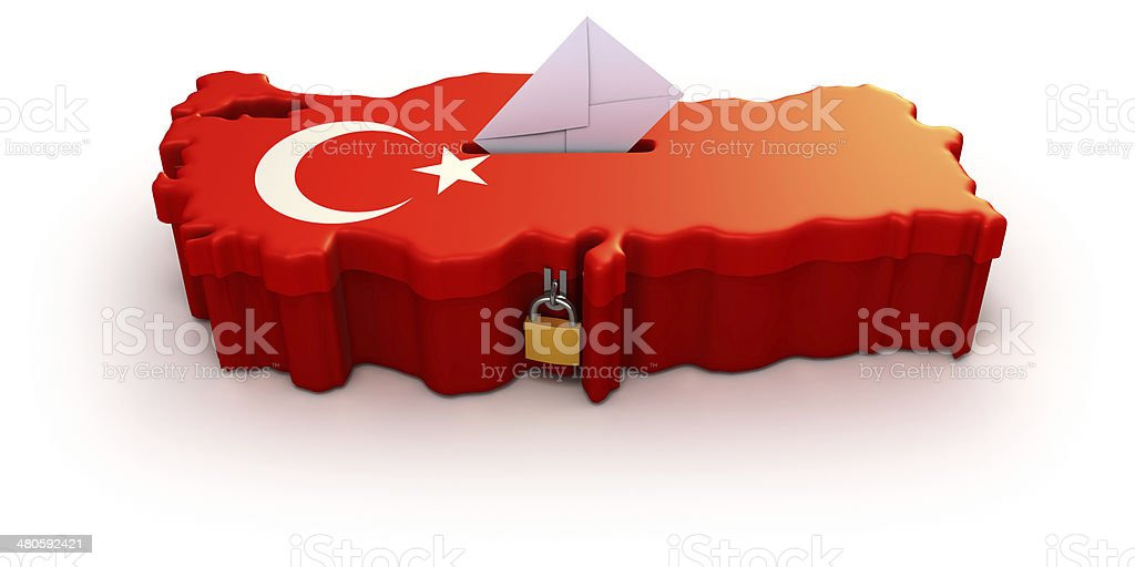 Elections in Turkey stock photo