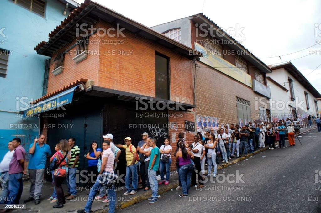 Elections in Venezuela 6 D stock photo