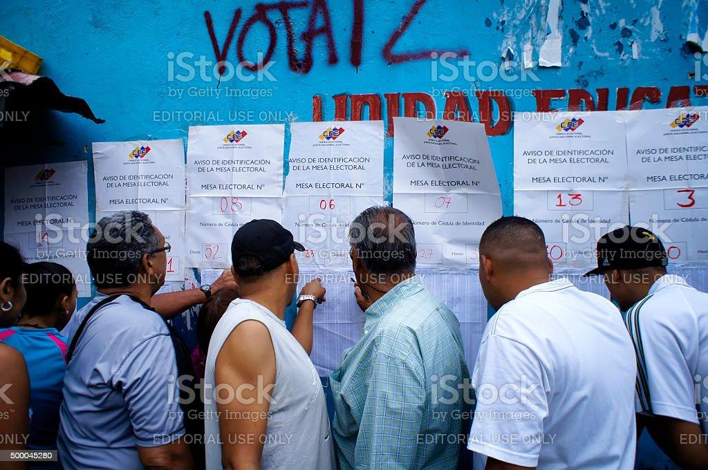 Elections in Venezuela stock photo