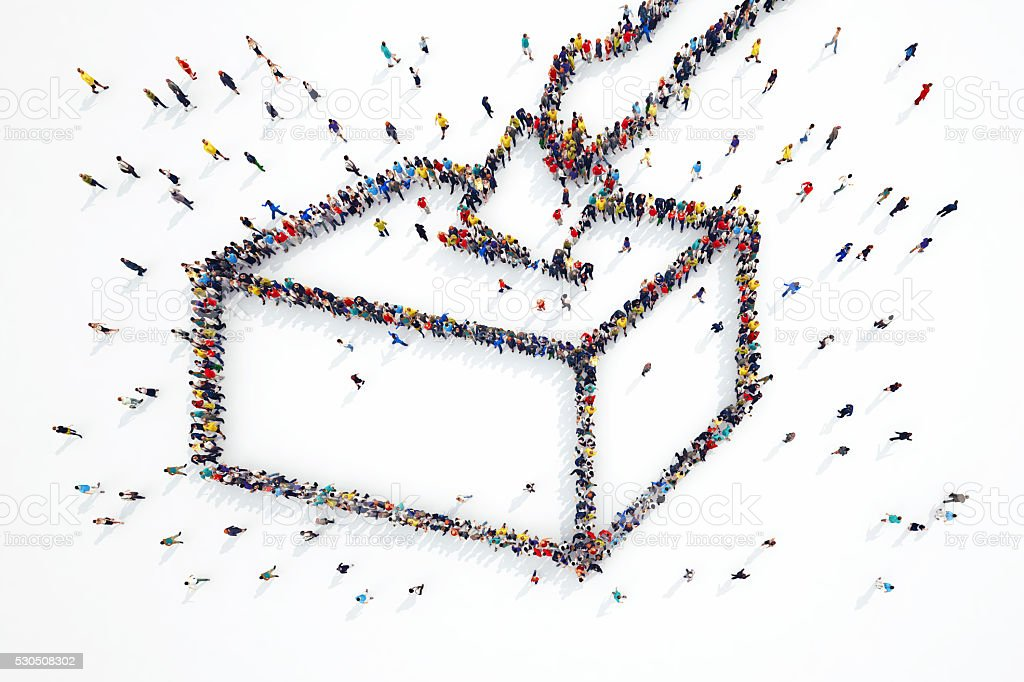 Elections people stock photo