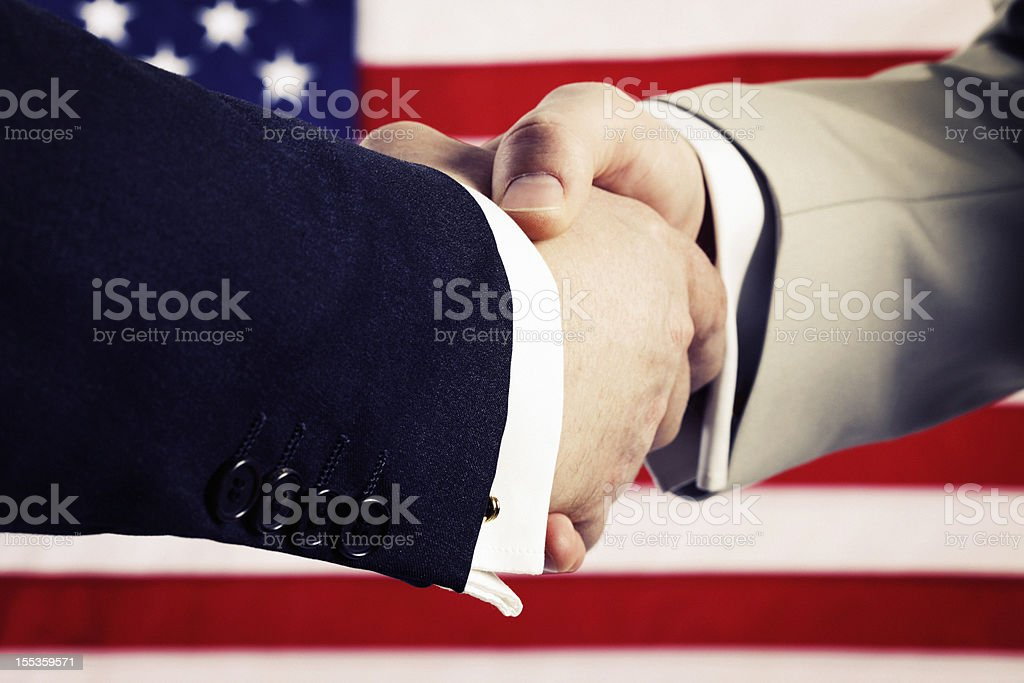 U.S. Elections. Presidential Handshake royalty-free stock photo