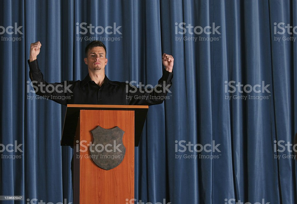 Elections won royalty-free stock photo