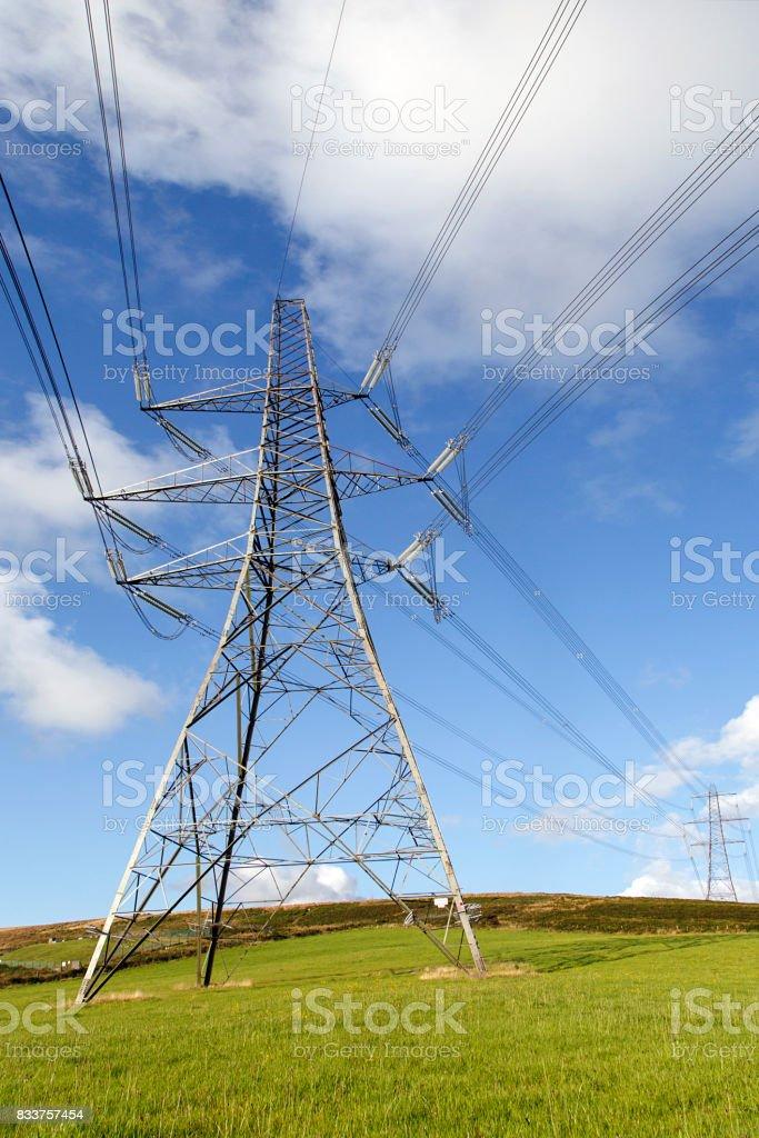 Electrcity Pylon stock photo