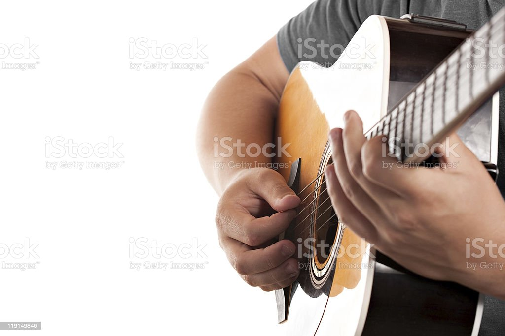 Electric Acoustic Guitarist royalty-free stock photo