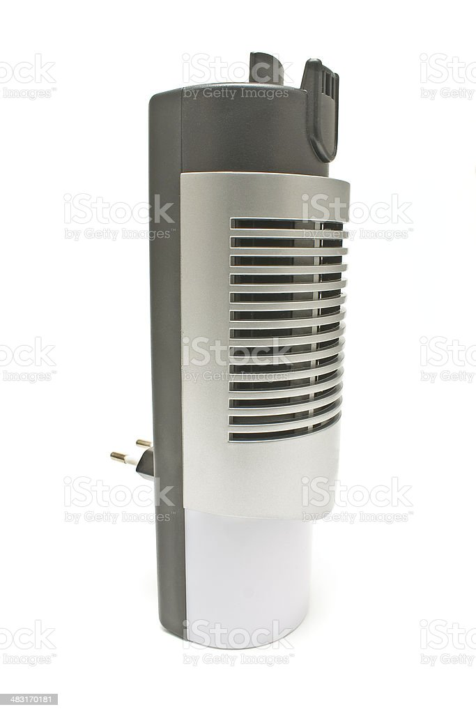 Electric air humidifier isolated on white stock photo