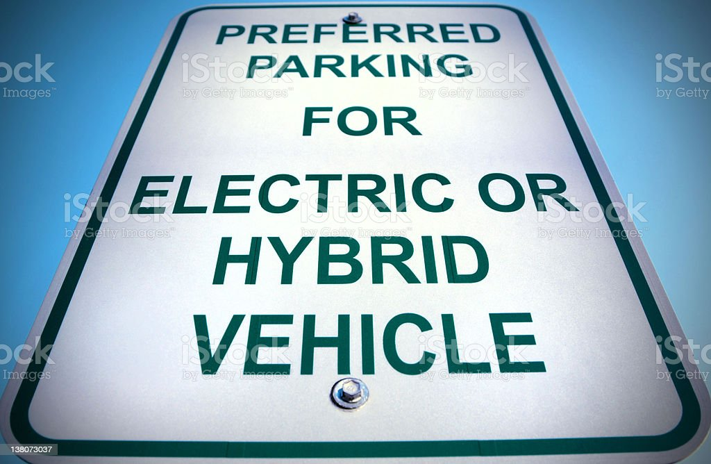 Electric and Hybrid Cars Sign royalty-free stock photo