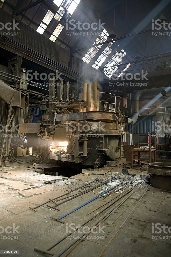 electric arc furnace royalty-free stock photo