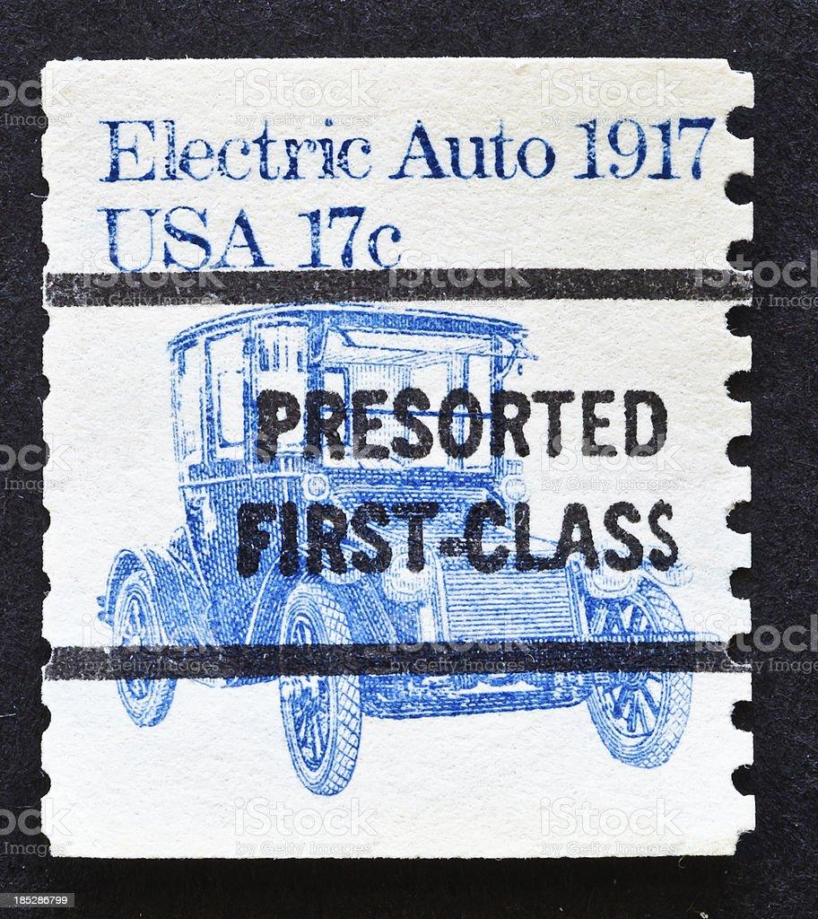 Electric Auto Stamp stock photo