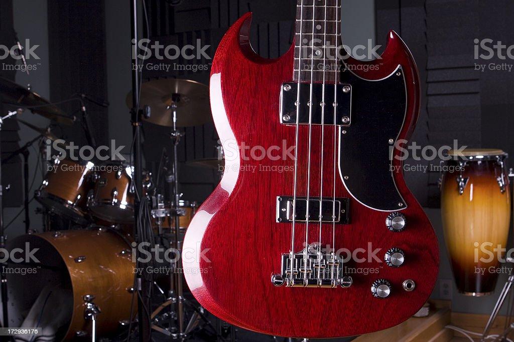 Electric base guitar stock photo