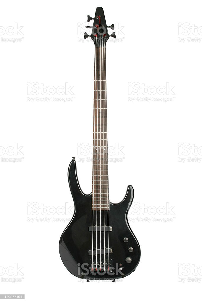 Electric bass guitar (Hohner) stock photo