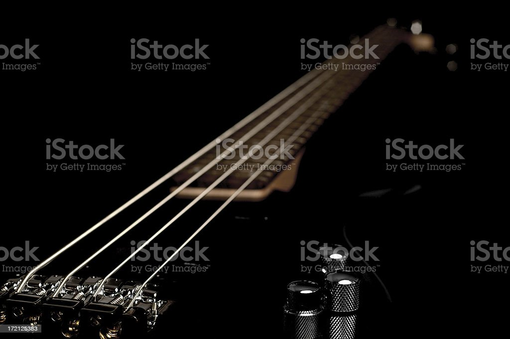 Electric Bass Guitar royalty-free stock photo