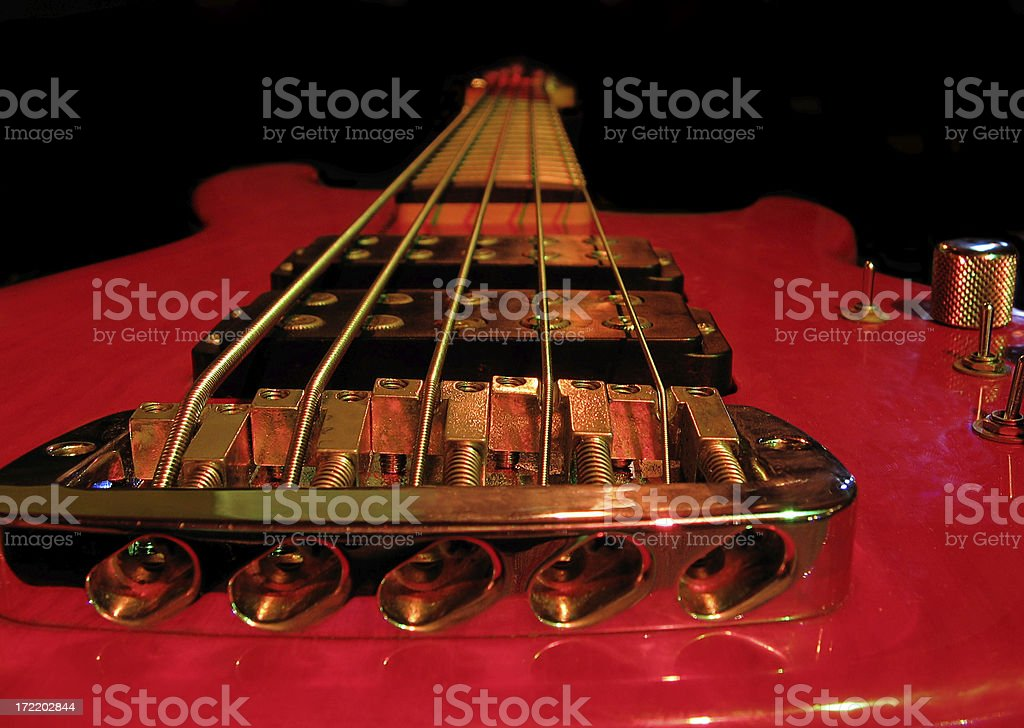 Electric bass royalty-free stock photo