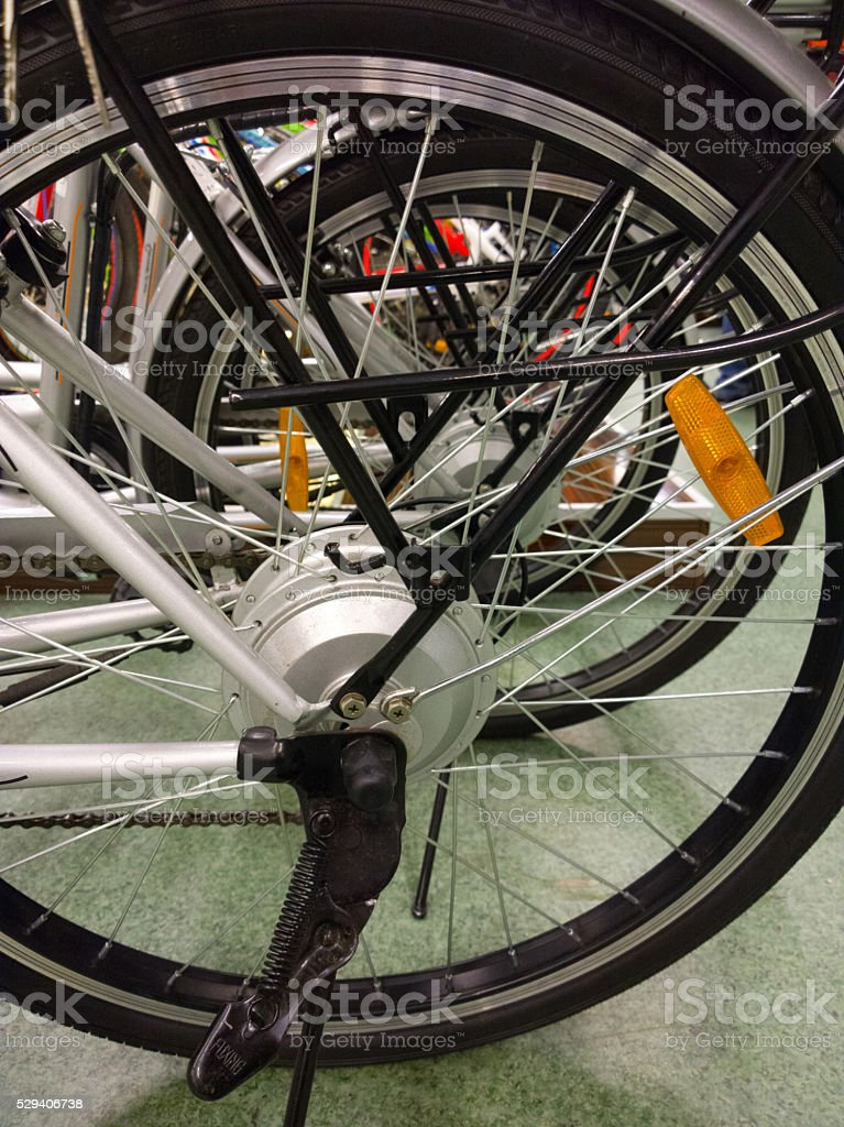 Electric bicycle. stock photo
