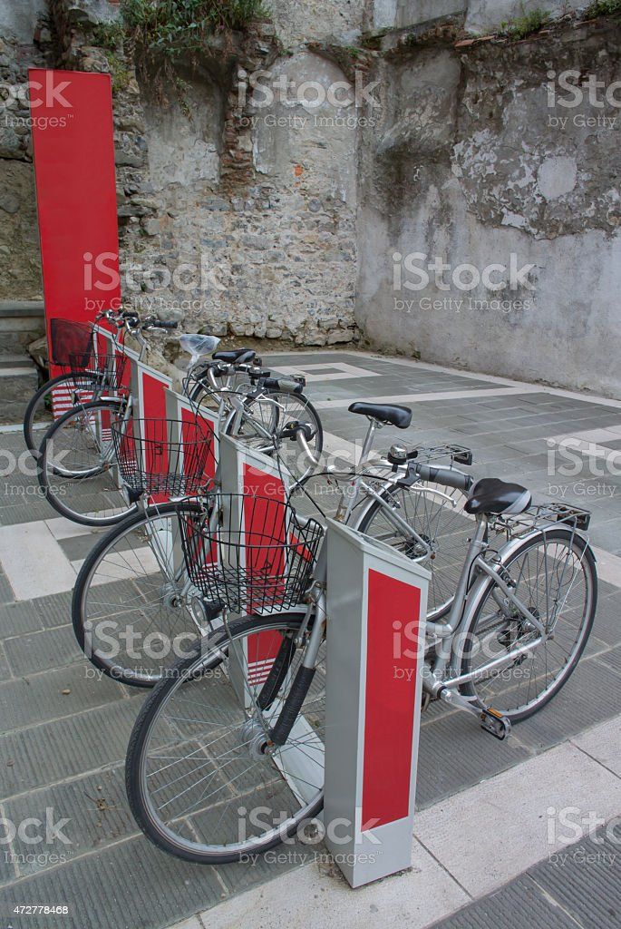 electric bicycles royalty-free stock photo