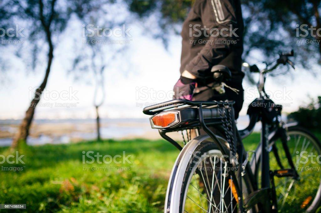 Electric Bike stock photo
