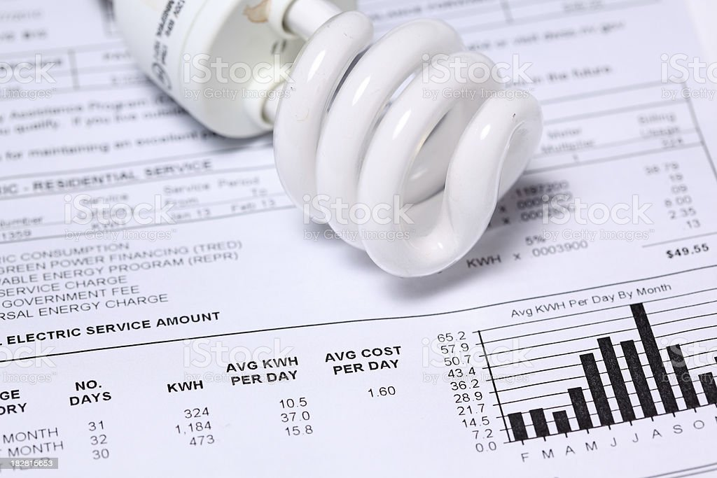 Electric bill stock photo