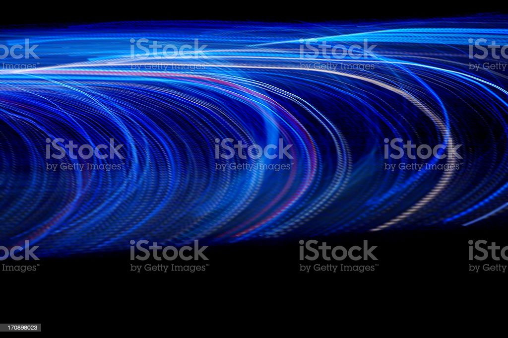 Electric blue blur royalty-free stock photo