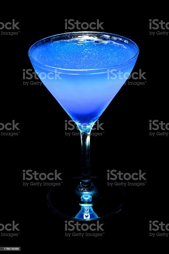 Electric Blue Slushie Martini stock photo