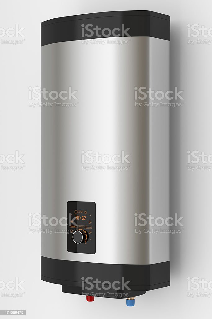 Electric boiler with smart control stock photo