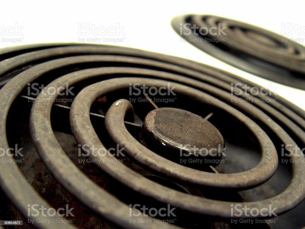 Electric burners royalty-free stock photo