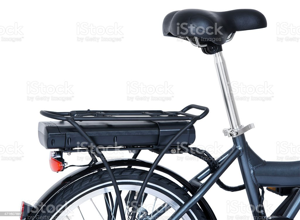 Electric bycycle battery power pack stock photo