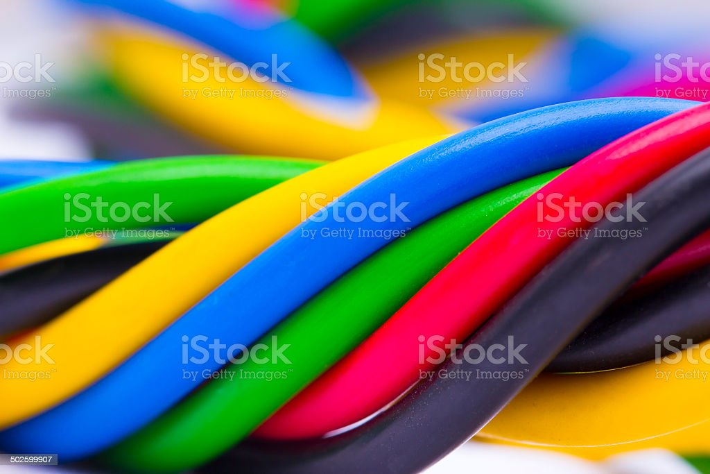 electric cable stock photo