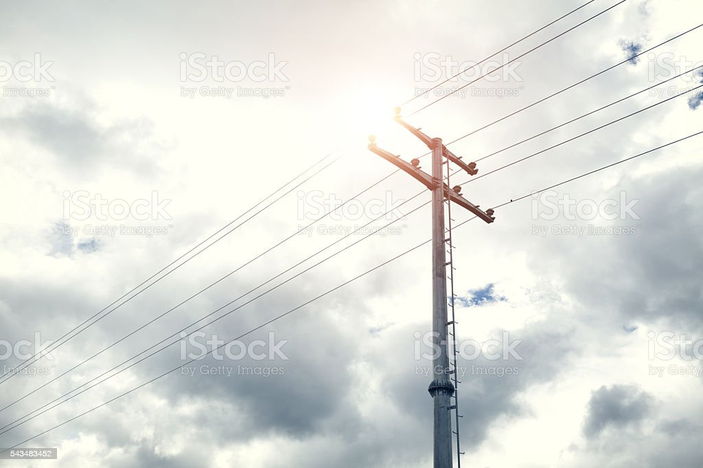 Electric cables tower