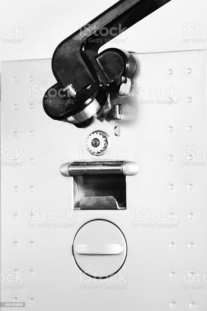 Electric can opener stock photo