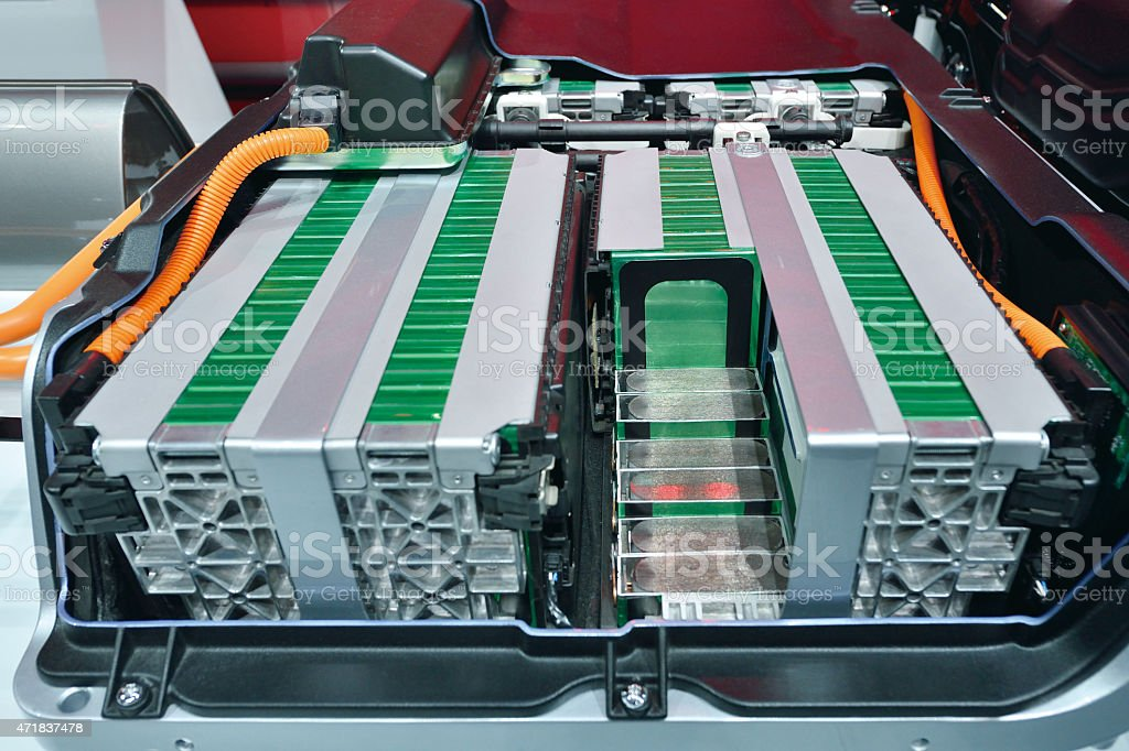 Electric Car Battery stock photo