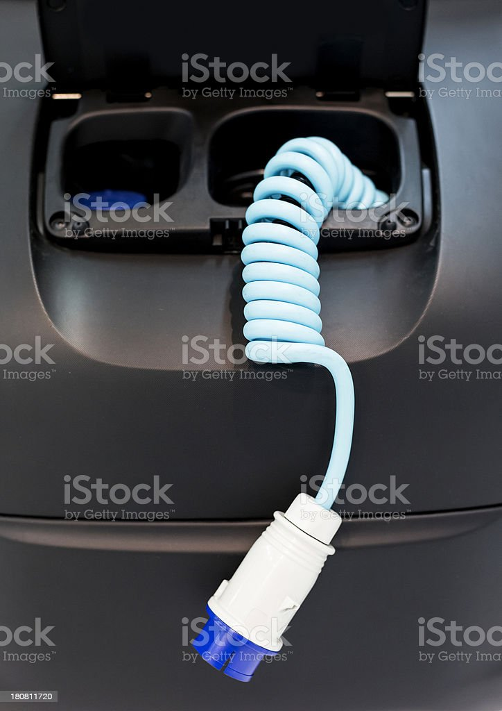 Electric car cable royalty-free stock photo