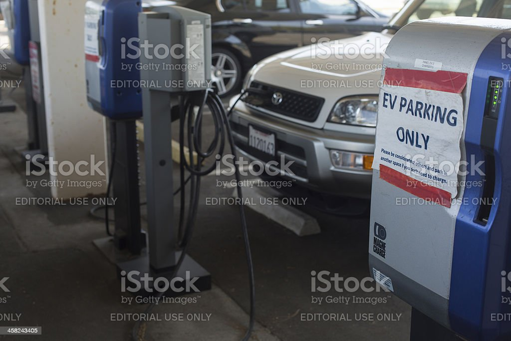 Electric Car Charging royalty-free stock photo