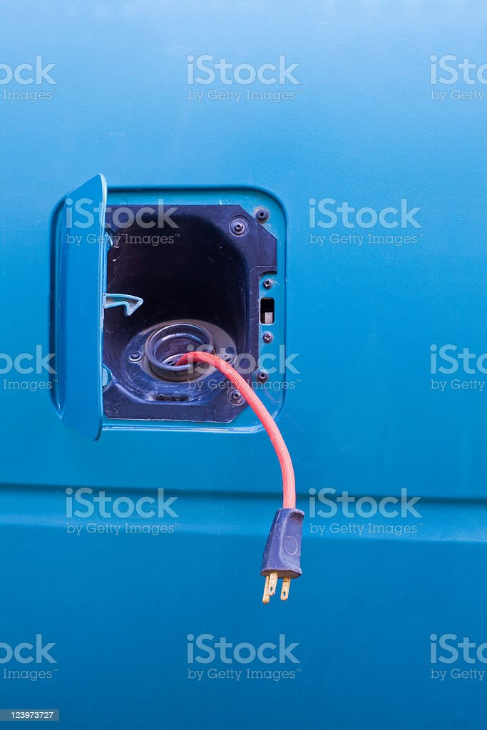 Electric car concept royalty-free stock photo