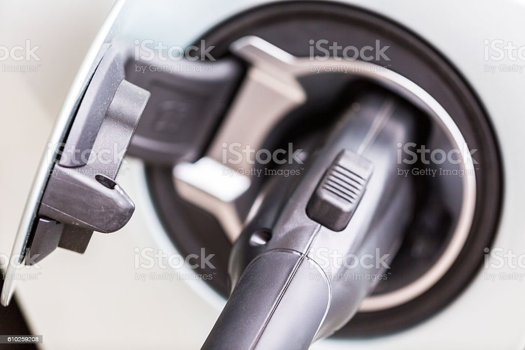 Electric car stock photo