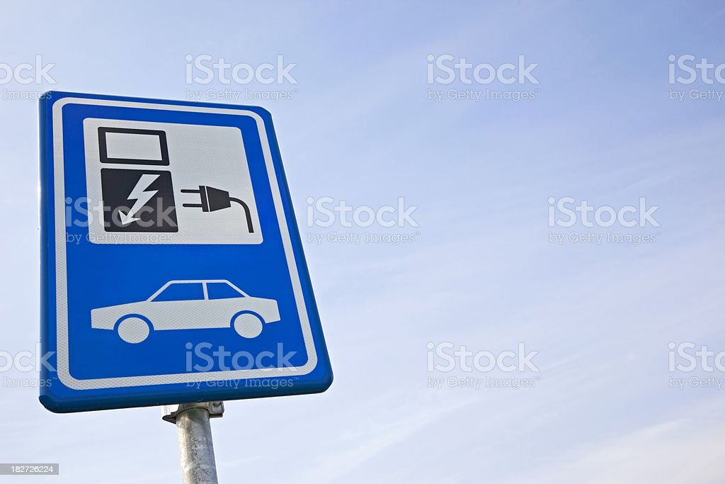 Electric car sign # 2 XXXL royalty-free stock photo