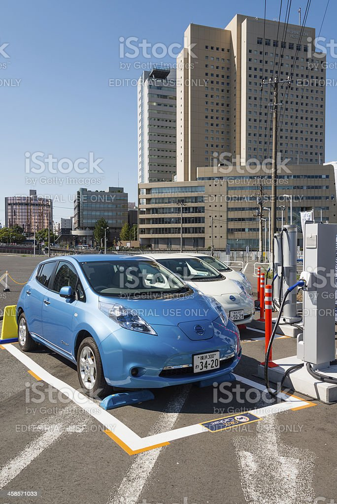 Electric cars for car sharing royalty-free stock photo