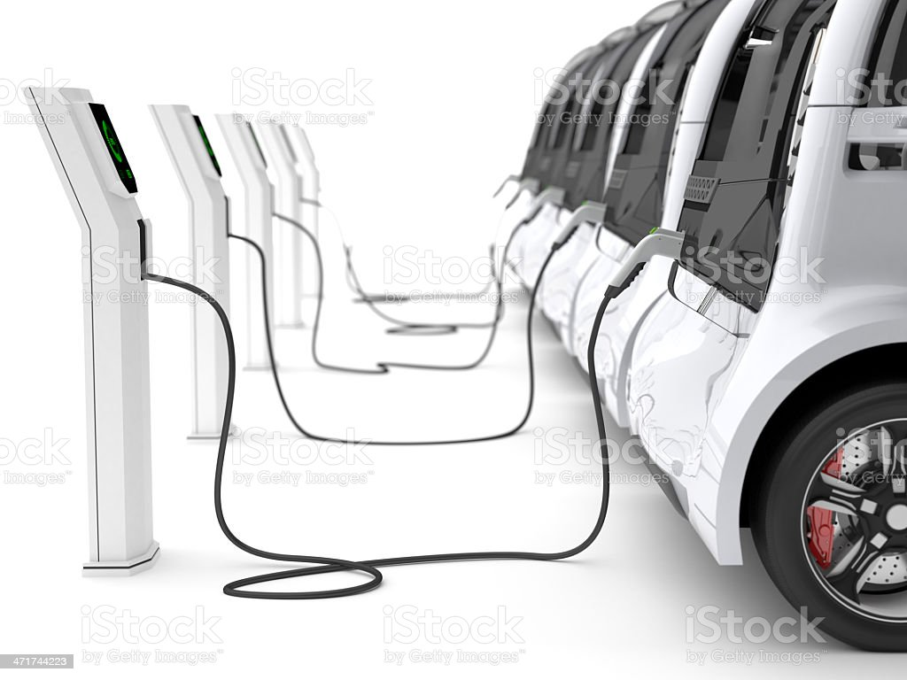 Electric Cars stock photo