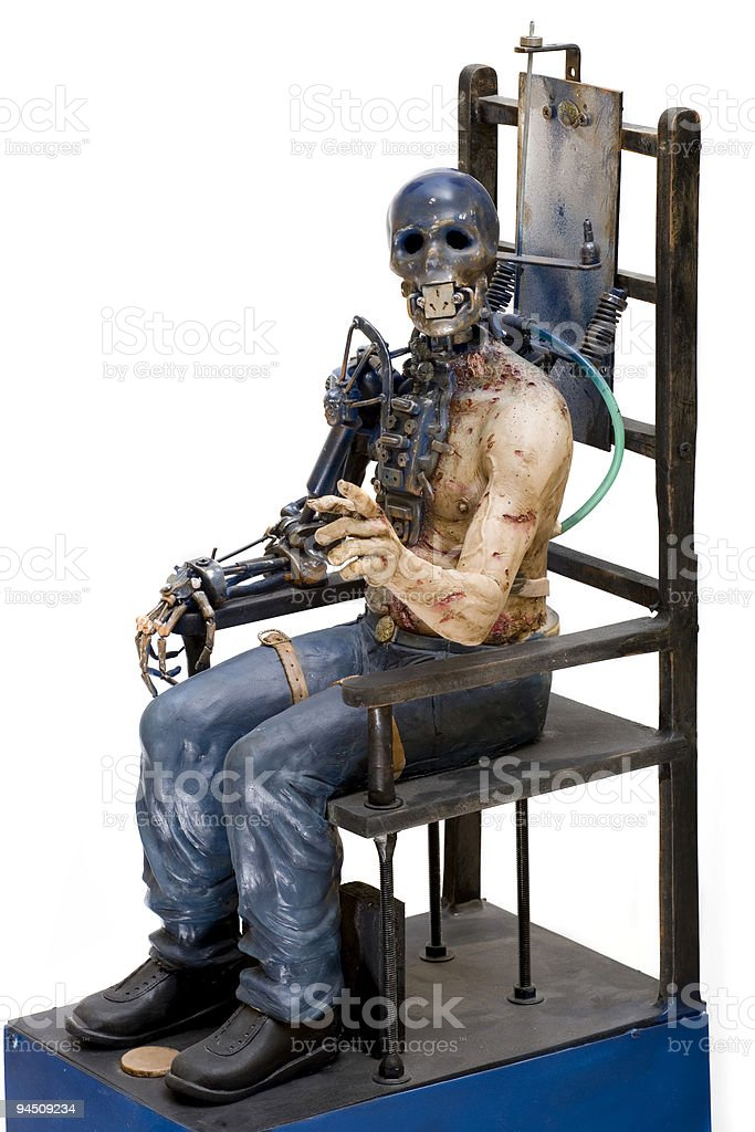 Electric chair is not working stock photo