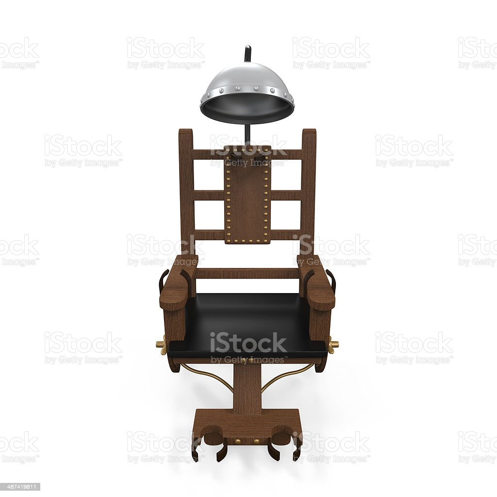 Electric Chair Isolated stock photo